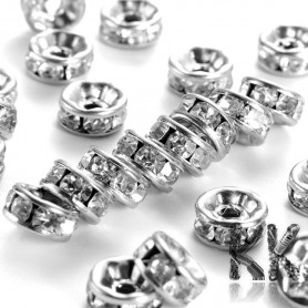 304 Stainless steel chaton roundel - ∅ 8 x 4 mm