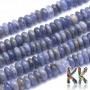 Tumbled round beads in the shape of rondellesmade of natural mineral tanzanite with a diameter of 6 mm and a height of 2.5-3 mm and a hole for a thread with a diameter of 0.5 mm. Tanzanite is a very rare violet-blue variety of the mineral zoisite and is one of the rarest minerals on the planet. The beads are absolutely natural without any dye. Country of origin: Tanzania THE PRICE IS FOR 1 PCS.