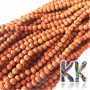 Beads made of rudraksha tree nuts with a diameter of 5 mm and a hole for a thread with a diameter of 0.5-1 mm. These are called 5 mukhi rudraksha beads. The beads come from India and may differ by up to 0.8 mm from the stated size due to manual sorting. The beads are stained with an extract of root vegetable dyes, which has traditionally been used in India to protect beads for hundreds of years.THE PRICE IS FOR 1 PCS.
