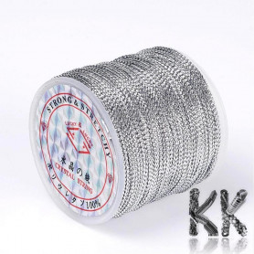 Metal cord - thickness 0.8 mm - roll 100 m