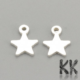 Sterling silver pendant (925 Ag) - star - 5.3 x 4 x 0.5 mm
