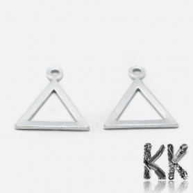 Sterling silver pendant (925 Ag) - triangle - 11 x 10 x 0.5 mm