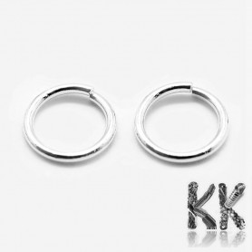 Connecting rings made of sterling silver (925 Ag) - ∅ 7 mm
