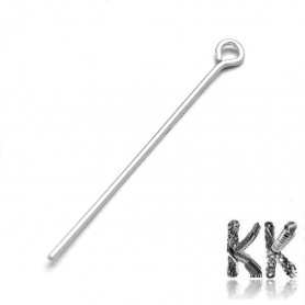 Knitting needle made of sterling silver (925 Ag) - 40 mm