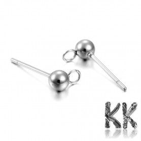 Puzetka with head and eyelet made of stainless steel