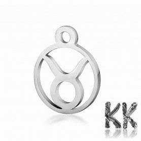 316L stainless steel pendant - zodiac sign - 13.4 x 10.8 x 1 mm