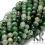 Tumbled and faceted round beads made of natural chrysoprase with a diameter of 8 mm with a hole for a thread with a diameter of 1 mm. The beads are absolutely natural without any dye. Country of origin: Africa THE PRICE IS FOR 1 PCS.