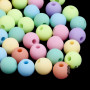 Colored plastic round beads made of acrylic material with a rubberized surface with a diameter of 8 mm and a hole for a thread with a diameter of 2 mm. Note - The beads are offered in packs of 10 grams and the color composition of each pack is purely random. The color composition in the illustration is so purely indicative. THE PRICE IS FOR 10 g (approx. 36 HP)