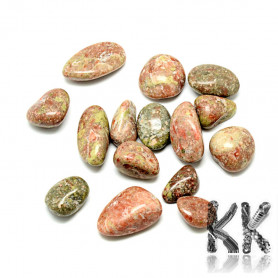 Natural non-drilled stone - 15 ~ 35 x 15 ~ 25 x 5 ~ 15 mm