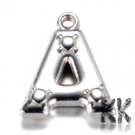 Pendant made of 304 stainless steel - letters - 15.2 x 13 x 3 mm.