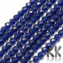 Tumbled and faceted round beads made of synthetic material imitating sapphire with a diameter of 2 mm with a hole for a thread with a diameter of 0.5 mm. Country of origin China THE PRICE IS FOR 1 PCS.