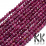 Tumbled and faceted round beads made of natural mineral ruby with a diameter of 2.5 mm and a hole for a thread with a diameter of 0.6 mm. The beads are completely natural without any dye. Country of origin Thailand THE PRICE IS FOR 1 PCS.