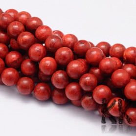 Synthetically red coral - Ø 6 mm - ball