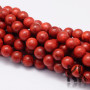 Tumbled round beads made of synthetic red coral with a diameter of 6 mm with a hole for a thread with a diameter of 1 mm. The surface of the beads is slightlydyed. Country of origin China THE PRICE IS FOR 1 PCS.