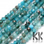 Tumbled and faceted round beads made of apatite mineral with a diameter of 2 mm with a hole for a thread with a diameter of 0.5 mm. The beads are absolutely natural without any dye. Country of origin Brazil THE PRICE IS FOR 1 PCS.