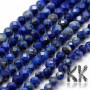 Tumbled and faceted round beads made of mineral lapis lazuli with a diameter of 2 mm with a hole for a thread with a diameter of 0.5 mm. The beads are absolutely natural without anydye. Country of origin Afghanistan, Chile, Burma, Russia THE PRICE IS FOR 1 PCS.