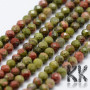 Tumbled and faceted round beadsmade of mineral unakite with a diameter of 2 mm with a hole for a thread with a diameter of 0.5 mm. The beads are absolutely natural without any dye. Country of origin Brazil THE PRICE IS FOR 1 PCS.