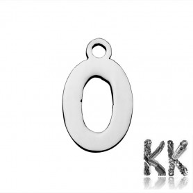 Pendant made of 304 stainless steel - number 13 x 8 x 1 mm