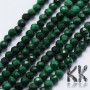 Tumbled and faceted round beads made of natural malachite mineral with a diameter of 2-2.5 mm and a hole for a thread with a diameter of 0.5 mm. The beads are absolutely natural, without any dye. Country of origin South Africa THE PRICE IS FOR 1 PCS.