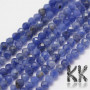 Tumbled and faceted round beads made of natural mineral sodalite with a diameter of 2 mm with a hole for a thread with a diameter of 0.5 mm. The beads are completely natural without any dye. The beads have been cut by the manufacturer and have a uniformly declared quality in grade A. Country of origin Brazil THE PRICE IS FOR 1 PCS.