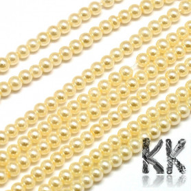 Glass waxed pearls - Ø 4 - 4.5 mm - beads
