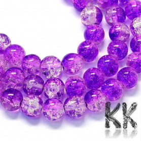 Cracked glass beads - Ø 8.5-9 mm - two-colored balls