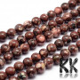 Tumbled round beads made of natural mineral serpentine with a diameter of 6 mm with a hole for a thread with a diameter of 0.8 -1 mm. The beads are absolutely natural, without any dye. Country of origin India THE PRICE IS FOR 1 PCS.