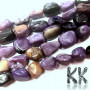 Tumbled beads in the shape of nuggets from one of the rarest minerals - natural charoite measuring 4-15 x 4-8 x 3-7 mm with a hole for a thread with a diameter of 0.8 mm. The beads are absolutely natural without any dye. Country of origin: Russia THE PRICE IS FOR 1 PCS.