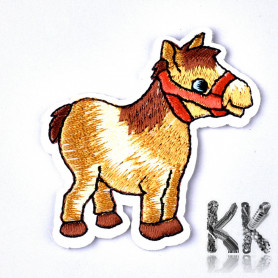 Iron-on picture embroidery - Horse -53 x 54 x 1 mm