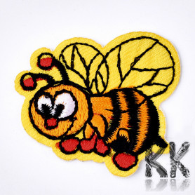 Iron-on picture embroidery - Bee - 41 x 38 x 1.5 mm