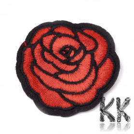 Iron-on picture embroidery -Rose - 49 x 47 x 1.5 mm