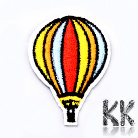 Iron-on picture embroidery -Flying balloon- 54 x 38 x 1.5 mm