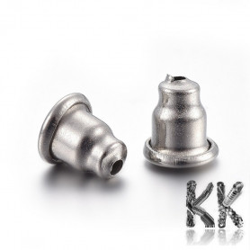 304 Stainless steel earring stop - 5.5 x 5 mm