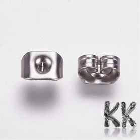 316 Stainless steel earring stop - 5 x 3.5 x 2.5 mm