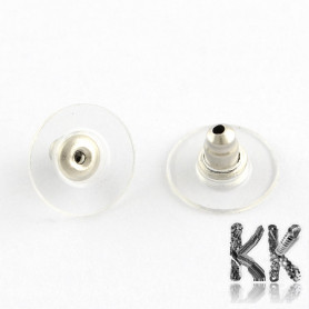 304 Stainless steel earring stop with plastic target - Ø 11.5 x 6 mm (1 pair)