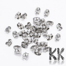 304 Stainless steel earring stop - 6 x 4.5 x 3.5 mm