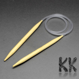 Bamboo knitting needles on a rubber hose - 800 x 2.5 mm