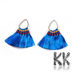 Earring pendants made of polyester tassels -59.5 x 60 x 4.5 mm.