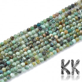 Natural African turquoise - Ø 2 mm - cut ball
