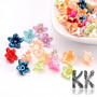 Plastic flowers made of acrylic material with an ABS surface imitating natural pearls with a diameter of 10 mm and a hole for a thread with a diameter of 1 mm. Note - The beads are offered in packs of 25 grams and the color composition of each pack is purely random. The color composition in the illustration is so purely indicative. THE PRICE IS FOR 10 g (approx. 106 PCS)