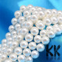 Semi-natural shell pearls of the depicted color shades of pearls in the shape of beads with a diameter of 8 mm and a hole for a thread with a diameter of 0.8-1 mm. Country of origin China THE PRICE IS FOR 1 PCS.