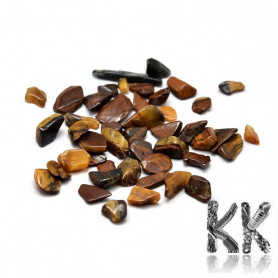 Natural tiger's eye - fragments - not drilled - 2 - 8 x 2 - 4 mm (decorative crumb) weight 1 g (approx. From 16 to 25 pcs)
