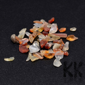 Natural carnelian - fragments - not drilled - 2 - 8 x 2 - 4 mm (decorative crumb) weight 1 g (approx. From 16 to 25 pcs)
