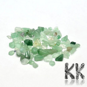 Natural green aventurine - fragments - not drilled - 2 - 8 x 2 - 4 mm (decorative crumb) weight 1 g (approx. From 16 to 25 pcs)