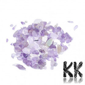 Natural amethyst - fragments - not drilled - 2 - 8 x 2 - 4 mm (decorative crumb) weight 1 g (approx. From 16 to 25 pcs)