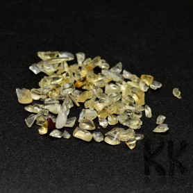 Natural citrine - fragments - not drilled - 2 - 8 x 2 - 4 mm (decorative crumb) weight 1 g (approx. From 16 to 25 pcs)