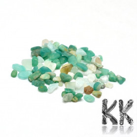 Natural amazonite - fragments - not drilled - 2 - 8 x 2 - 4 mm (decorative crumb) weight 1 g (approx. From 16 to 25 pcs)