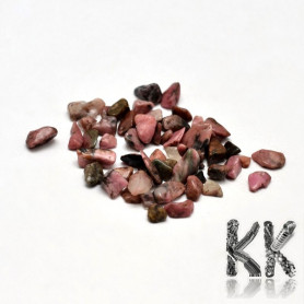 Natural rhodonite - fragments - not drilled - 2 - 8 x 2 - 4 mm (decorative crumb) weight 1 g (approx. From 16 to 25 pcs)