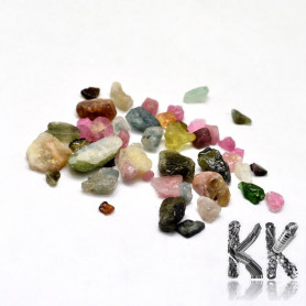 Natural tourmaline - fragments - not drilled - 2 - 8 x 2 - 4 mm (decorative crumb) weight 1 g (approx. From 16 to 25 pcs)