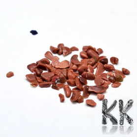 Synthetic sun stone - fragments - not drilled - 2 - 8 x 2 - 4 mm (decorative crumb) weight 1 g (approx. From 16 to 25 pcs)